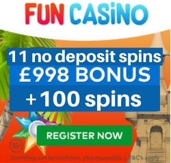 Fun casino 11 Free Spins no deposit at Starburst Slot