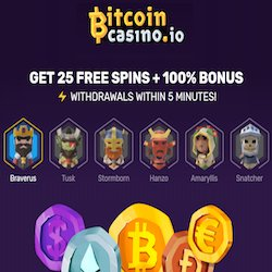 BitcoinCasino.io welcome offer