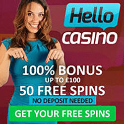 Hello Casino 50 Free Spins on Starburst
