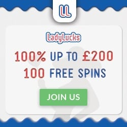 LadyLucks Casino 50 complementary spins on Starburst